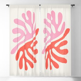 Star Leaves: Matisse Color Series   Mid-Century Edition Blackout Curtain