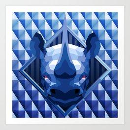 Rhino Head Trophy 2 Art Print