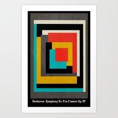 Beethoven - Symphony No. 5 Art Print