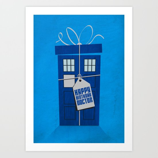 What's in the blue box? (Doctor Who) Art Print