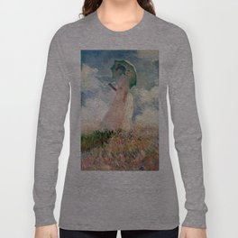 Claude Monet's Woman with a Parasol, Study Long Sleeve T-shirt