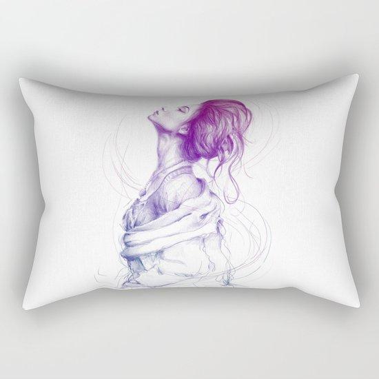 Beautiful Woman Lady Portrait Fashion Art Rectangular Pillow