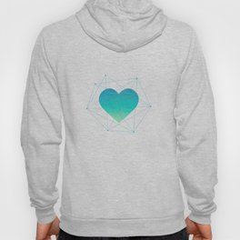 Heart In 3D Dimension Texture Hoody