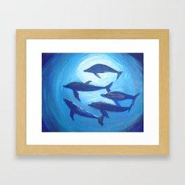 Ocean Blue Framed Art Print