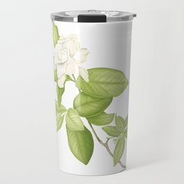 Gardenia Flower Travel Mug