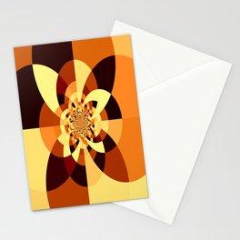Orange Brown Kaliedoscope Stationery Cards