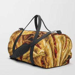 Painted Autumn Monstera palm leaves by Brian Vegas Duffle Bag