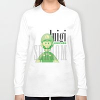 luigi Long Sleeve T-shirts featuring Luigi by Thomas Official