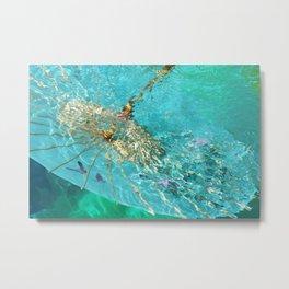 Blue Umbrella (right) Metal Print