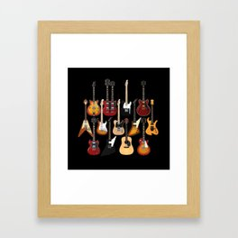 Too Many Guitars! Framed Art Print