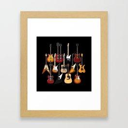 Too Many Guitars! Framed Art Print
