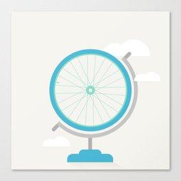 Bike Globe Canvas Print