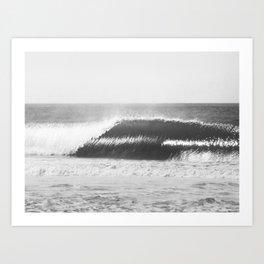 Black and White Wave Art Print