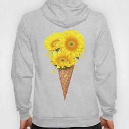 Ice cream with sunflowers Hoody