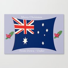 Merry Christmas from Down - Under Canvas Print