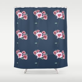Watercolor Floral Bouquet Pattern Shower Curtain