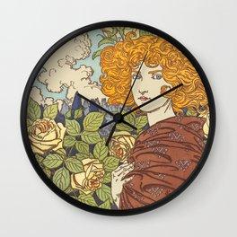 Jalousie (Jealousy) - Eugène Grasset 1841 Wall Clock