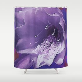 Cactus Orchid Indigo Touch Shower Curtain