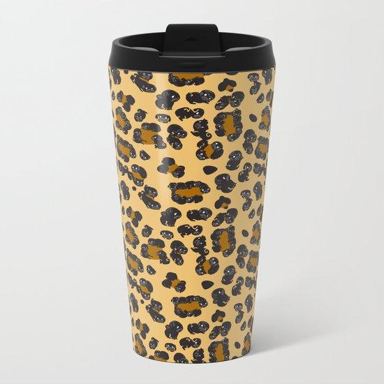 Leopard Pugs Metal Travel Mug