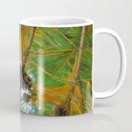 Beautiful fir tree branch with cones Coffee Mug