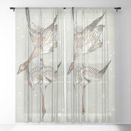 Snow Geese Sheer Curtain