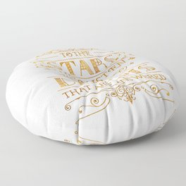 To the Stars - White Floor Pillow