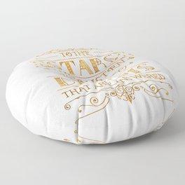 To the Stars - White Floor Pillow