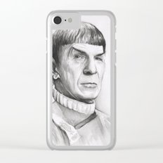 Spock Leonard Nimoy Portrait Clear iPhone Case