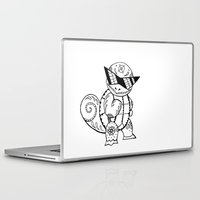 squirtle Laptop & iPad Skins featuring Squirtle de los Muertos | Pokémon & Day of The Dead Mashup | Dia de los Muertos by Aaron Bowersock