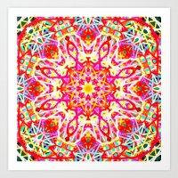 Flower of Lines Art Print