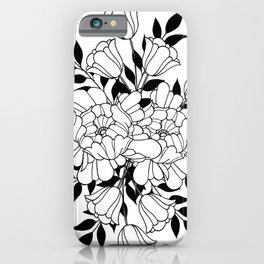 Hand drawn flowers iPhone Case
