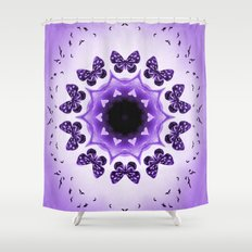 All things with wings (purple) Shower Curtain