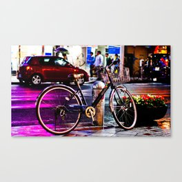 Purple Bicycle Canvas Print