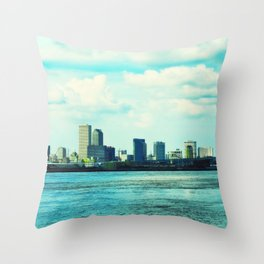 New Orleans Skyline Throw Pillow