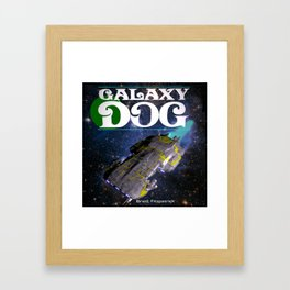 Galaxy Dog Framed Art Print