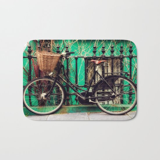 Bicycle at Rest Bath Mat