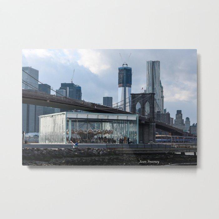 Freedom Tower & Jane's Carousel 2012 Metal Print