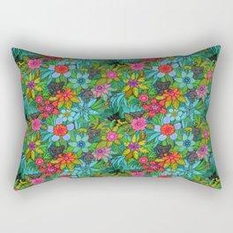 Pattern kitties and flowers Rectangular Pillow