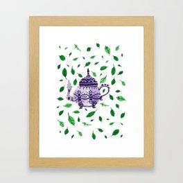 Fresh Green Tea Framed Art Print