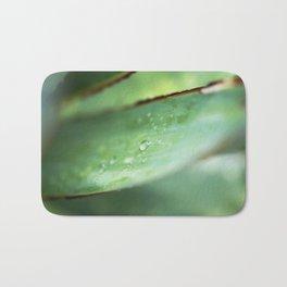 Dew Drops on Agave Leaf Bath Mat
