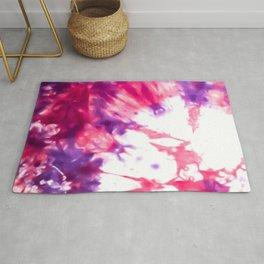 Modern Artsy Abstract Neon Pink Purple Tie Dye Rug