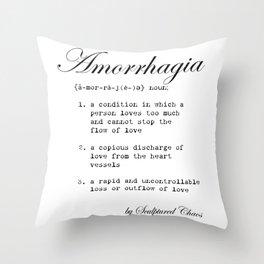 Amorrhagia Throw Pillow