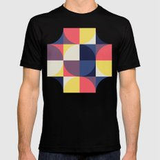 Quarters Quilt 1 MEDIUM Black Mens Fitted Tee