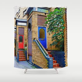 Stairs to Nowhere  -  Greenwich London Shower Curtain
