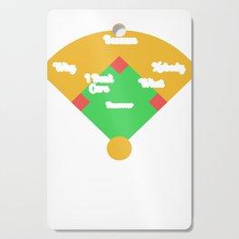 Who's on First? Baseball Diamond Fielding Card Cutting Board