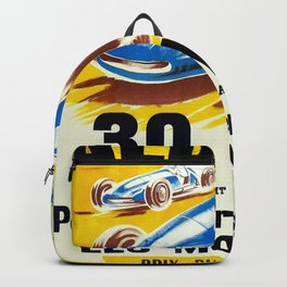 Vintage French Racing Poster Backpack