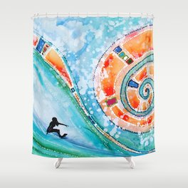 Wahine Shower Curtain