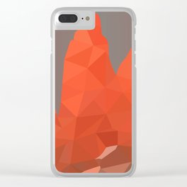 Torres del Paine National Park Low Poly Art Clear iPhone Case