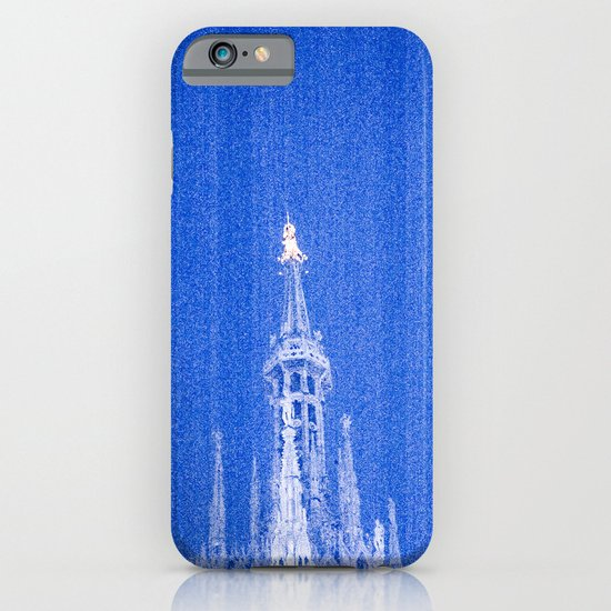 Night of Blue over Milan iPhone & iPod Case
