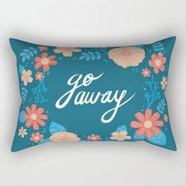 Floral Go Away Rectangular Pillow